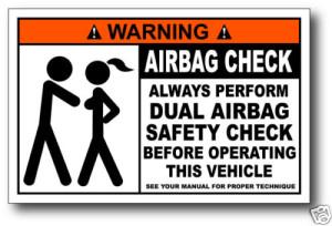 Наклейка Airbag